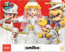 NINTENDO AMIIBO MARIO ODYSSEY MARIO PEACH BOWSER WEDDING SET