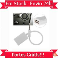 L725 Cabo Audio AUX 3.5mm Jack - USB MP3 MP4 Automovel Carro