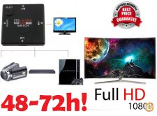 Switch Splitter Tripla 3 portas HDMI Full HD 1080P 24H