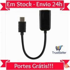 Z303 Cabo Adaptador OTG Type C USB-C 3.1 - USB fêmea MacBook