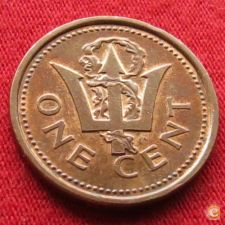 Barbados 1 cent 1985 KM# 10   *V