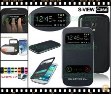 Flip case S-VIEW azul Samsung Galaxy S3 SIII Mini GT-i8190