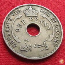 British West África Ocidental Oeste 1 penny 1936 KM# 16