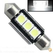 2x lampadas Tubular 35mm 3 led 5050 Canbus Stock