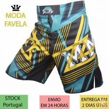 Calções Azul preto MMA Muay Thai Boxe (Fight Shorts) M L XL
