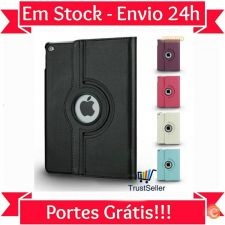 U034 Smart Cover Capa Pele Ipad Air 2 / iPad 6 Entrega 24h