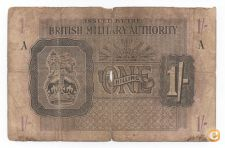 BRITISH MILITARY AUTHORITY LIBIA 1 SHILLING 1943  VER SCANS