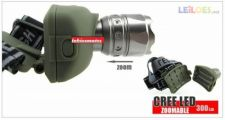 Lanterna CREE LED 300LM ZOOM Excelente Material Stock