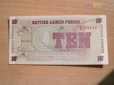 INGLATERRA - 10 NEW PENCE 1972 BRITISH ARMED FORCES    UNC