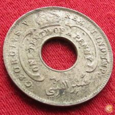 British West África Ocidental Oeste 1/10 penny 1912 H  w