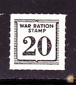 WWII - SENHA RACIONAMENTO DE GUERRA . USA . War Ration Stamp