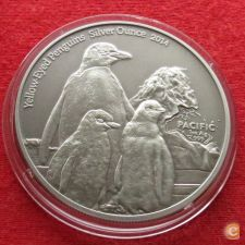 Tokelau 5 $ 2014 Penguins   Prata   999 1 oz