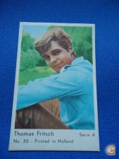 * CROMO PASTILHAS THOMAS FRITSCH GUM CARD SERIE A 35