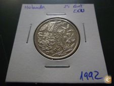 I 17 HOLANDA 25 CENT ECU 1992 PROOF RARA