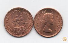 MOEDA AFRICA DO SUL SOUTH AFRICA 1/2 PENNY 1960 UNC