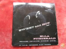 "Ella Fitzgerald - Sweet And Hot Part 1-Single 7""-45 RPM."