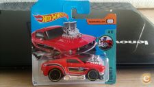 2017 HOT WHEELS - 68 MUSTANG  RED   TOONED     *NOVO*