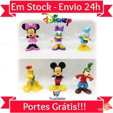 Z193 6 Miniaturas Mickey Mouse Disney Donald Duck Bonecos