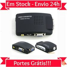 U04 Conversor Universal Video para VGA / TV / RCA  Envio 24h