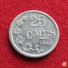 Luxemburgo 25 centimes 1960 KM# 45a.1 Luxembourg   *V