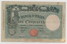 ITALY 50 LIRE 1943 PICK 65 VER SCANS