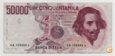 ITALY 50000 LIRE 1984 PICK 113 A VER SCANS
