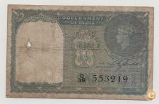 INDIA 1 RUPEE 1940 PICK 25 A VER SCANS