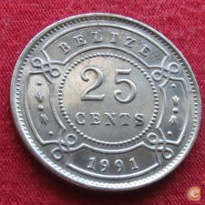 Belize 25 cents 1991 KM# 36   *V