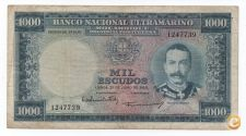 MOÇAMBIQUE PORTUGAL 1000 ESCUDOS 1953 PICK 105 VER SCANS