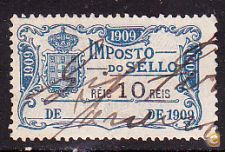 1909 - IMPOSTO DO SELLO - 10 Réis
