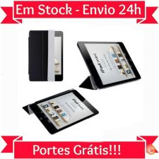 R525 Smart Cover Capa Magnética Preto Ipad Mini 1 & 2 Stock