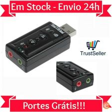 L236 Placa som audio externa 7.1 3D HD USB  Volume Em Stock