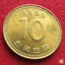 Coreia do Sul Korea 10 won 1999 KM# 33.1   *V2