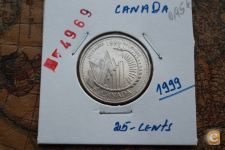 25-Centimes_CANADA_1999_                        A/R= [ 4969]