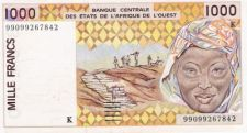 1000 FRANCOS K Senegal  WEST AFRICAN