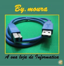 Cabo USB 3.0 A para USB B Macho AB M/M Printer Cable