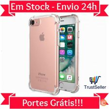 Z296 Capa Gel Silicone Transparente Apple iPhone 7 Envio 24h