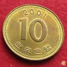 Coreia do Sul Korea 10 won 2001 KM# 33.2