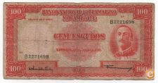 PORTUGAL MOÇAMBIQUE 100 ESCUDOS 1958 PICK 107 VER SCANS