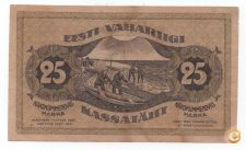 ESTONIA 25 MARKA 1919 PICK 47 VER SCANS