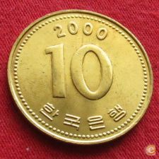 Coreia do Sul Korea 10 won 2000 KM# 33.1