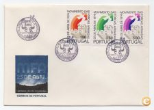 ENVELOPE FDC PORTUGAL 25 ABRIL MFA 1974