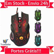 T519 Rato USB Optical Mouse Gamer Alta Precisão 3200dpi 24h