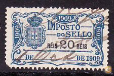 1909 - IMPOSTO DO SELLO - 20 Réis