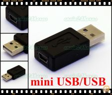 Ficha adaptador conversor USB p/ Mini USB TV, PC, Satélite