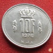 Luxemburgo 10 francs 1976 KM# 57 Luxembourg
