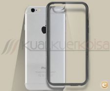 Capa gel Transparente Metal Iphone 5 / 6 / 7   4.7""