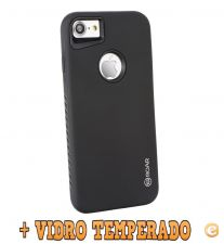 "Capa Anti Choque ""Roar Rico Armor"" + VIDRO iPhone 6 / 6S"