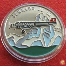 Congo 100 francs 1995 aviao Junkers