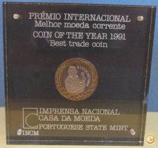 PORTUGAL - COIN OF THE YEAR 1991 - PROOF     / ECE